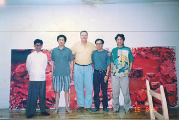 Zhang Xiaogang and Friends, Chengdu, 1995