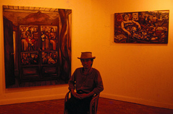 Danilo Dalena with His Works