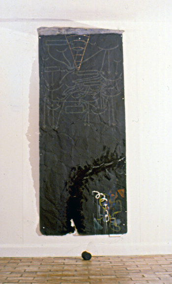 Black Painting Probing the History of the One-Dimensional Man