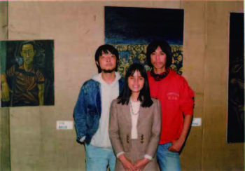 He Yang and His Wife and Xu Yong at 'Today Art Exhibition'