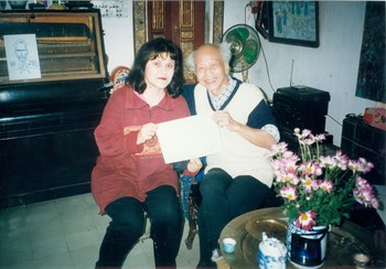 Photograph of Hoang Lap Ngon and Natasha Kraevskaia