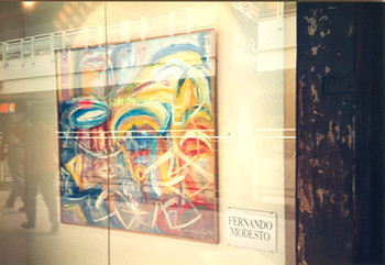 Painting Presented at the Solo Exhibition of Fernando Modesto