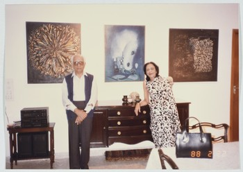 Zubeida Agha and Her Brother at Wahab Jaffer's Home
