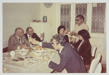 Wahab Jaffer and Friends at a Dinner Party