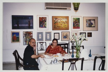 Quddus Mirza and Guest at Wahab Jaffer's Home