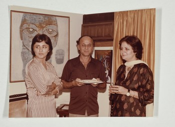 Salima Hashmi and Guests at Wahab Jaffer's Home
