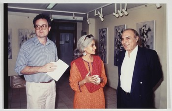 Group Photograph of David Alesworth, Durriya Kazi, and Wahab Jaffer