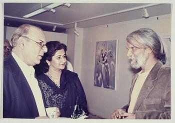Photograph of Wahab Jaffer, Shirin Jaffer, and Shahid Sajjad