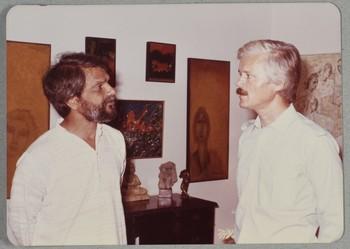 Shahid Sajjad and Goethe Institut Director
