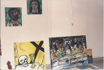 Artwork by F.N. Souza at Wahab Jaffer's House