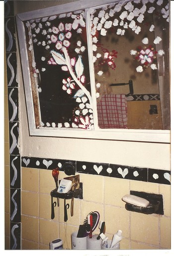 Mirror Painting by F.N. Souza in Wahab Jaffer's House