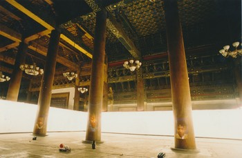 Father & Son at Tai Miao (The Imperial Ancestral Temple) — Video Projection