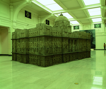 Bank of Sand, Sand of Bank, exhibition view of '2000 Shanghai Biennial'