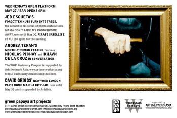 Wednesdays Open Platform (May 27)