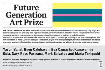 Future Generation Art Prize — Flyer