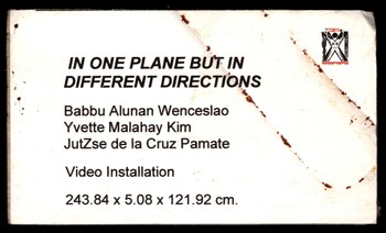 In One Plane But In Different Directions — Artwork Caption Card