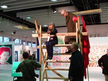 Simulasian exhibit preparing for the performance