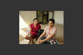 Varsha Nair and Karen