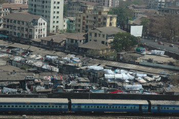 Train through Mumbai
