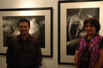 Art critic and historian, Ranjit Hoskote with Director of the Guild, Shalini Sawhney