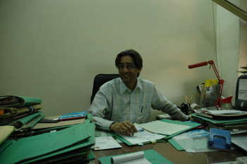 D.K Banerjee, Assistant Secretary of Exhibitions at Lalit Kala Acadmey