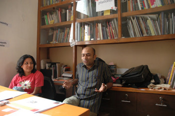 Rahul Bhattacharya, Resident Art Critic and Aastha Chauhan, at KOHJ