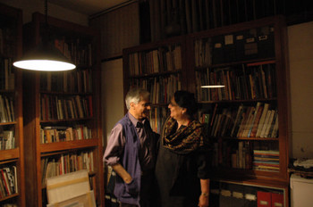 Vivan Sundaram and Geeta Kapur at home