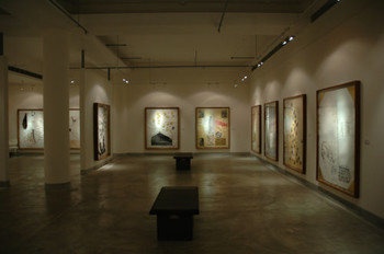 Exhibition View of Atul Dodiya Exhibition