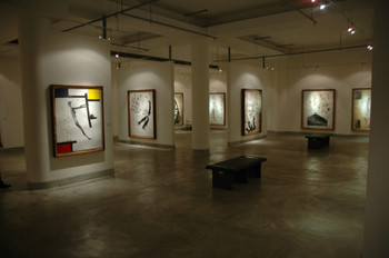 View of Atul Dodiya Print Exhibition