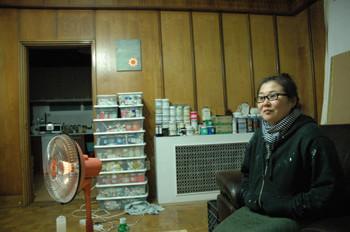 Meena Park in her new home and studio