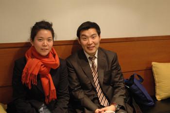 Iris Moon and Director of Gallery Hyundai, Do Hyung-tae