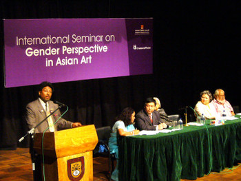 Dr Milan Ratna Shakya at the International Seminar