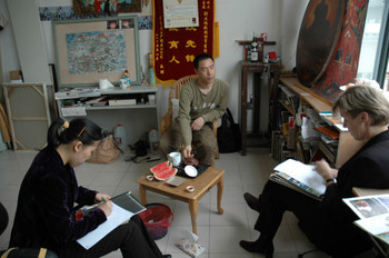AAA meets with Liu Dahong in his studio