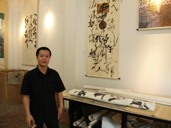 Chen Zaiyan at his studio