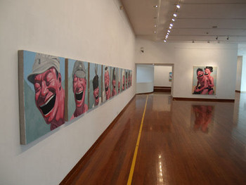 Reproduction Icons: Yue Minjun Works, 2004-2006 - Exhibition View