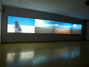 Near Intervisible Lines, Video Projection, 2006, Hayati Mokhtar and Dain-Iskandar