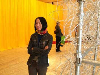Qin Yufen and her installation work, Untitled