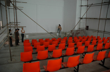 The auditorium in construction