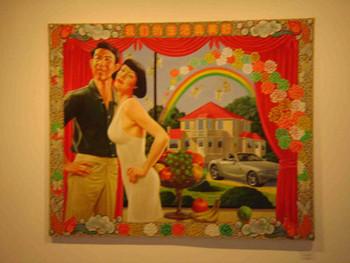Ji Wenyu's painting in ShanghArt Gallery