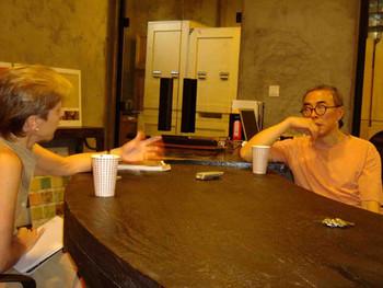 Jane Debevoise interviewing Gu Wenda