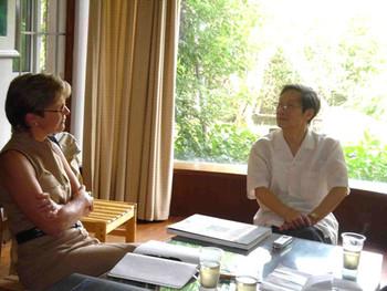 Jane Debevoise visiting Fang Zengxian