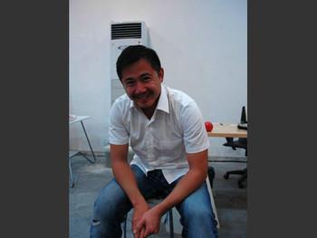Michael Lin in his new studio in Shanghai