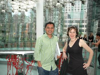 Chaitanya Sambrani and Christine Clark