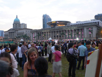 Opening of Singapore Biennale 2006 at the Padang on 1st September