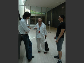 Lee Weng Choy with the curator of the Moscow Biennial