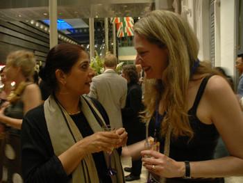 Sheba Chhachhi with Rhana Davenport