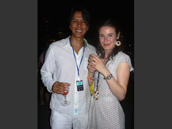Tomas Ochoa and Cristina Lucas at the opening night of Singapore Biennale 2006