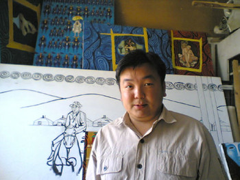 Son of Tsogzol (Mongol Zurag style)