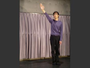 Performance by Gen Murai (Japan) in Morishita Studio, Tokyo