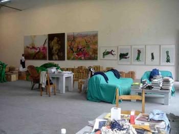 Zhou Chunya's studio in Landing Art Centre